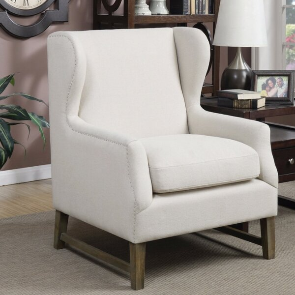 Shepherd Aesthetically Refined Wingback Chair by Gracie Oaks