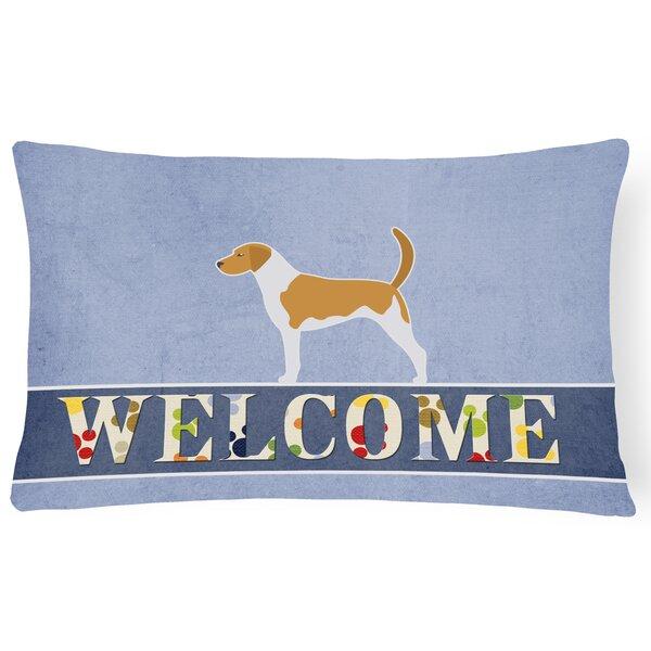 Carrickfergus American Foxhound Welcome Lumbar Pillow by Red Barrel Studio