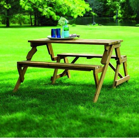 defaultname - Wood Picnic Table
