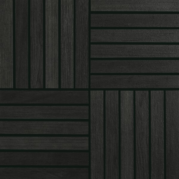 Harmony Grove 1 x 6 Porcelain Wood look Tile in Oak/Olive Charcoal by PIXL