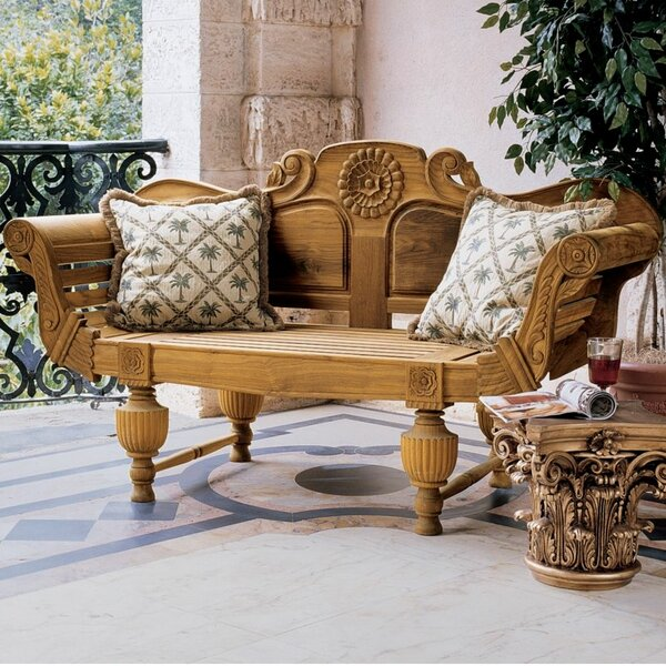 Halifax Console Wood Garden Bench by Design Toscano