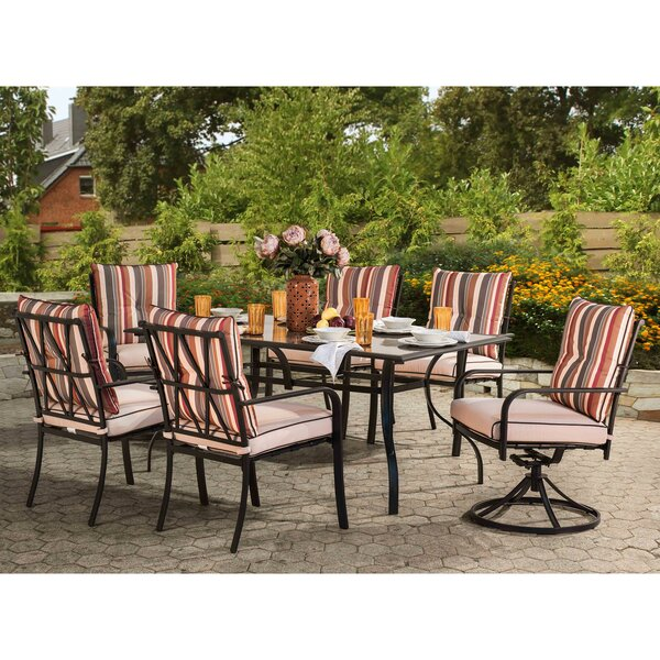 Critchlow 7 Piece Dining Set by Rosecliff Heights