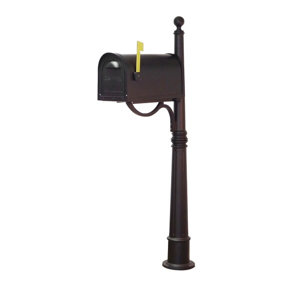 Classic Curbside Locking Mailbox with Ashland Post Included by Special Lite Products