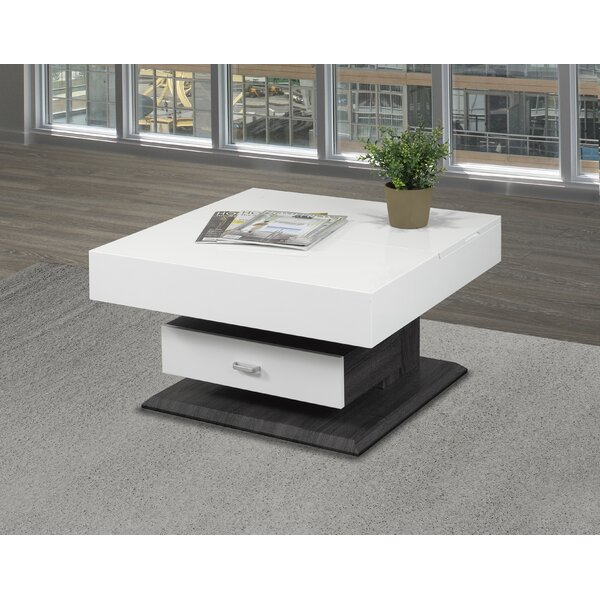 Rotating Lift Top Coffee Table by Brassex