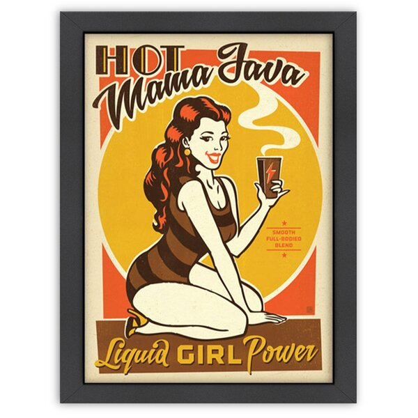 Hot Mama Java Framed Vintage Advertisement by East Urban Home