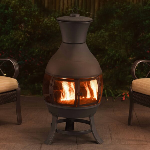 Clementine Steel Wood Burning Chiminea by Sunjoy