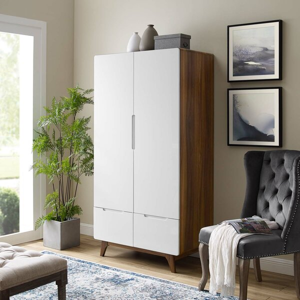 Griffis Origin Wood Wardrobe Armoire By George Oliver
