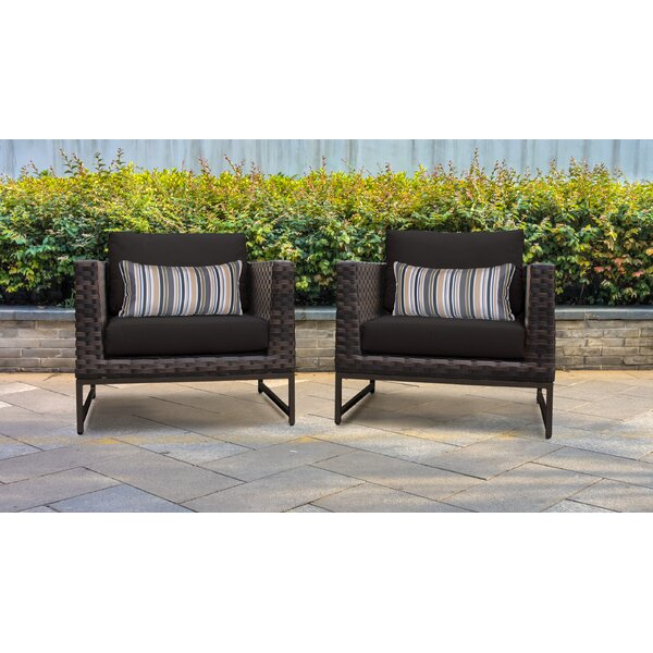 Barcelona Patio Chair with Cushions (Set of 2) by Darby Home Co