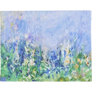 Lavender Fields by Claude Monet Framed on Canvas by Alcott Hill