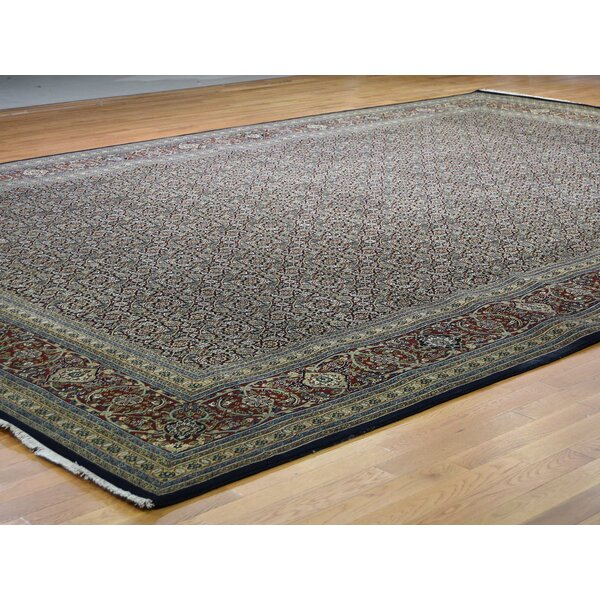 One-of-a-Kind Rollegem Hand-Knotted Blue 12' x 17'10 Silk Area Rug