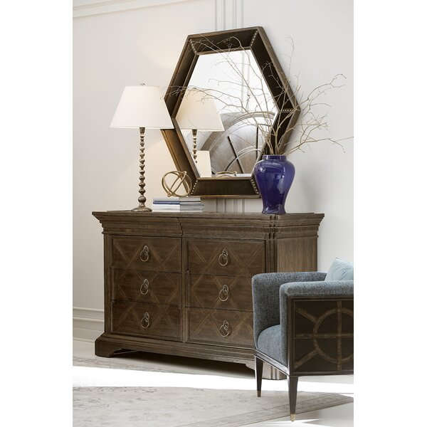 Fredric 8 Drawer Double Dresser with Mirror by Canora Grey