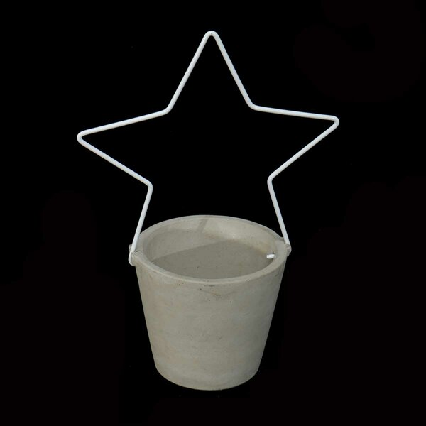 Concrete Wire Star Pot Planter (Set of 2) by The Holiday Aisle
