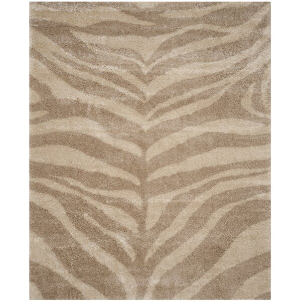 Blumefield Shag Ivory/Beige Area Rug by Willa Arlo Interiors
