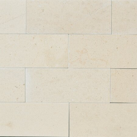 Osso 3 x 8 Limestone Subway Tile in Creamy Latte by The Bella Collection
