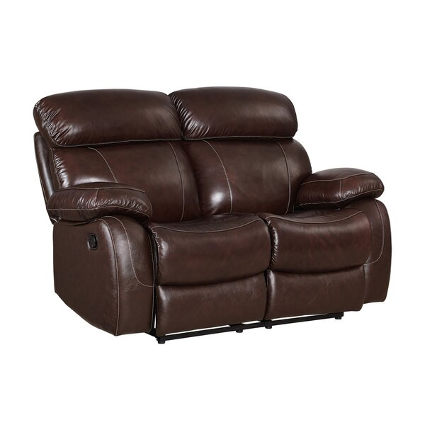 Novoa Leather Reclining Loveseat by Red Barrel Studio