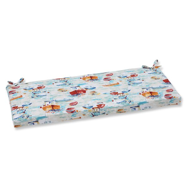 Spinnaker Bay Sailor Indoor/Outdoor Bench Cushion by Pillow Perfect