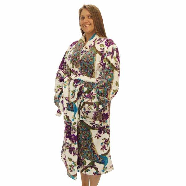 Taryn Flannel Fleece Bathrobe by Home Soft Things