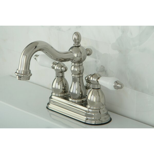 Heritage Centerset Bathroom Faucet with Drain Assembly by Kingston Brass Kingston Brass