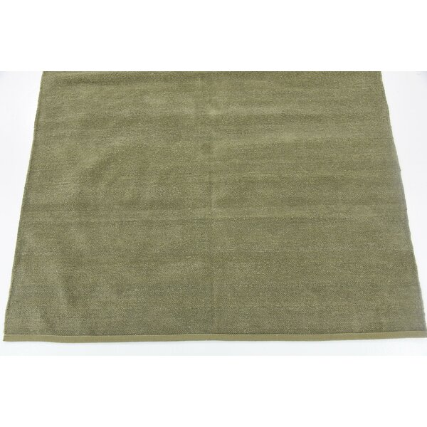 Bayley Hand Woven Wool Green Area Rug by Harriet Bee