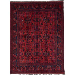 Bargain One-of-a-Kind Auxvasse Hand-Knotted 5' x 6'7 Wool Red Area Rug By Isabelline
