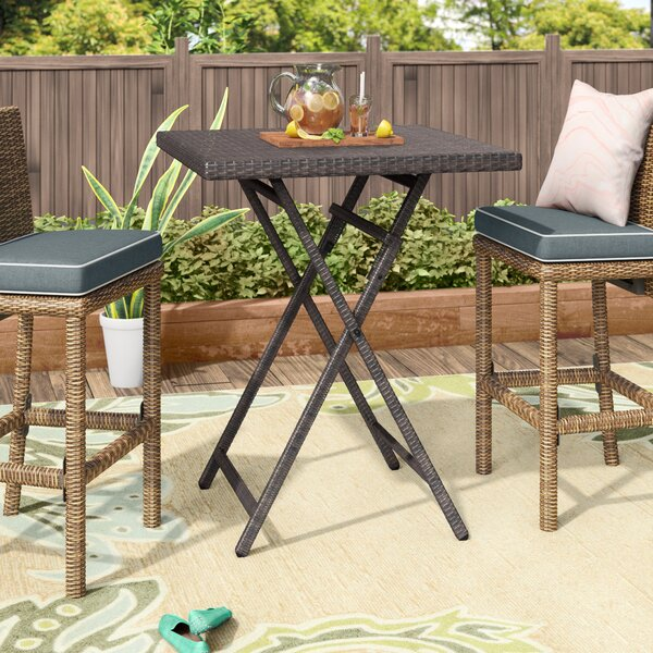 Will Outdoor Wicker Bistro Table by Latitude Run