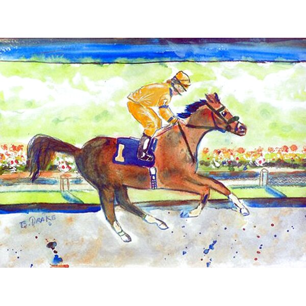 Nyah Racing Horse Gold Placemat (Set of 4) by Charlton Home