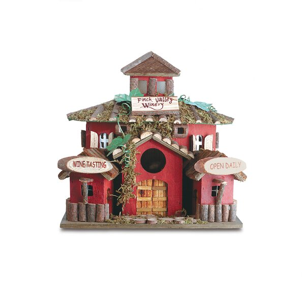 Finch Valley Winery 10 in x 10.5 in x 8 in Birdhouse by Zingz & Thingz