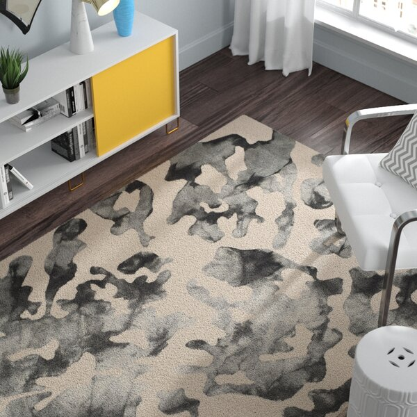 Chancey Dip Dyed Beige & Charcoal Area Rug by Zipcode Design