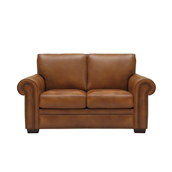 Londyn Leather Loveseat By Millwood Pines