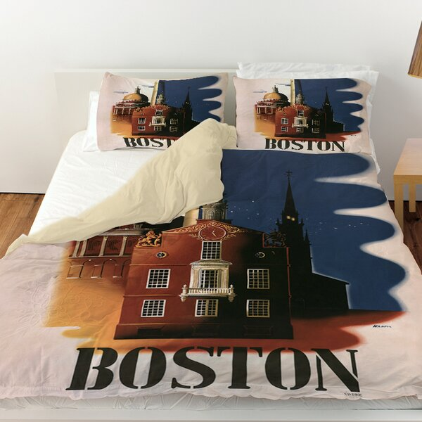 Boston Architecture Duvet Cover by Manual Woodworkers & Weavers