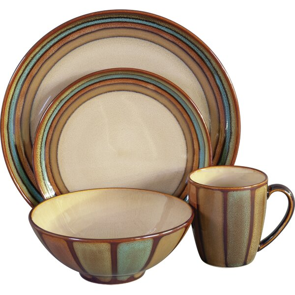 Flair 16 Piece Dinnerware Set, Service for 4 by Sango
