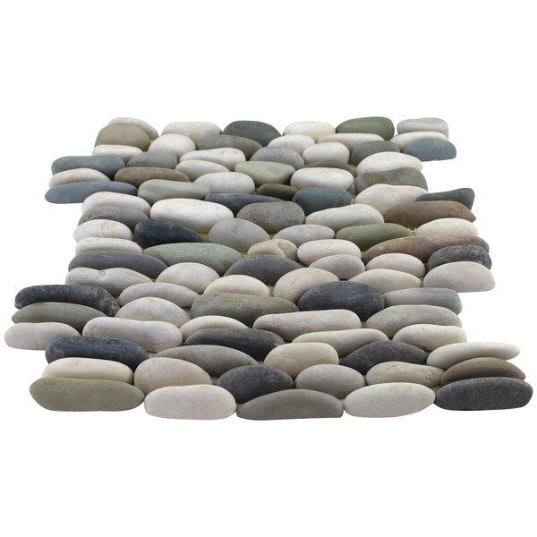 12 x 12 Beveled Natural Stone Pebble Mosaic Tile