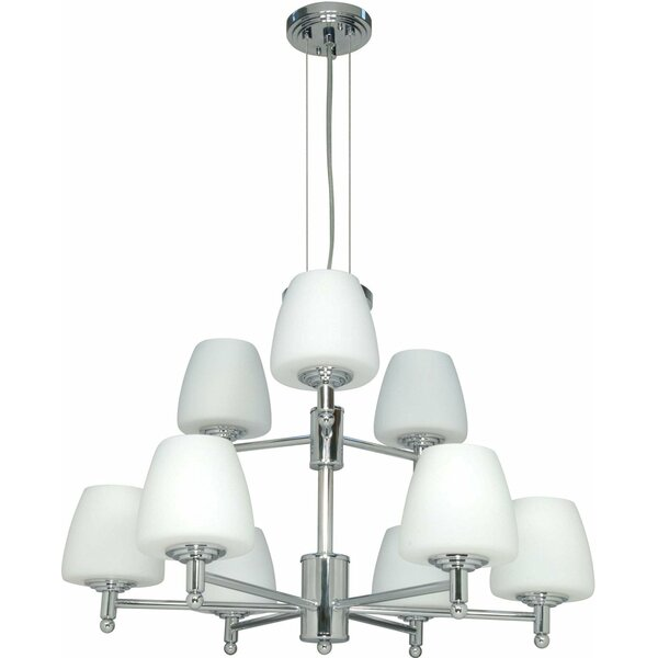 Vernonburg 9 - Light Shaded Tiered Chandelier by Fleur De Lis Living Fleur De Lis Living
