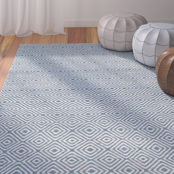 Davida Blue/Ivory Area Rug by Bungalow Rose