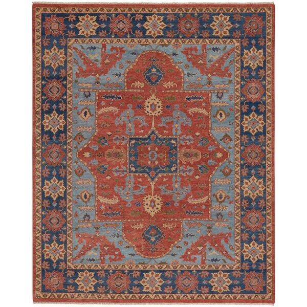 Biltmore Hand-Knotted Cinnamon/Deep Blue Area Rug by Capel Rugs