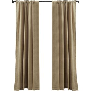 Lindenwold Burlap Curtain Panels (Set of 2)