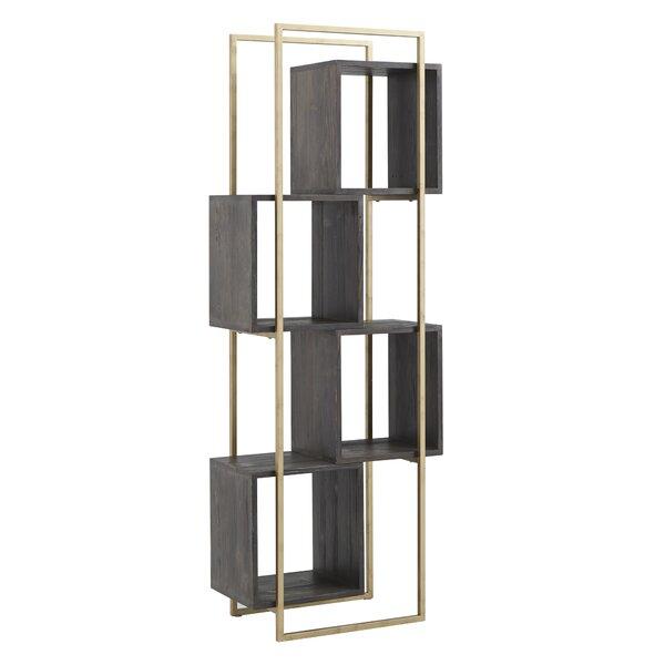 Breece Reclaimed Wood Geometric Bookcase By Brayden Studio