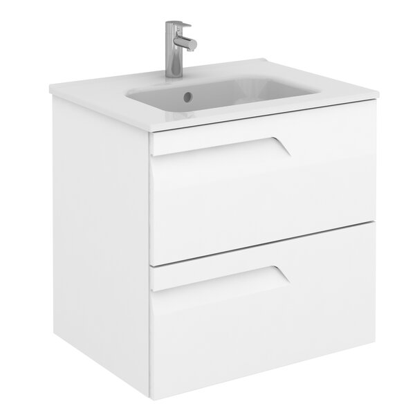Alejandro 24 Wall-Mounted Single Bathroom Vanity by Orren Ellis