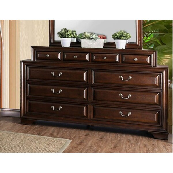 Crowborough 10 Drawer Double Dresser by Canora Grey Canora Grey