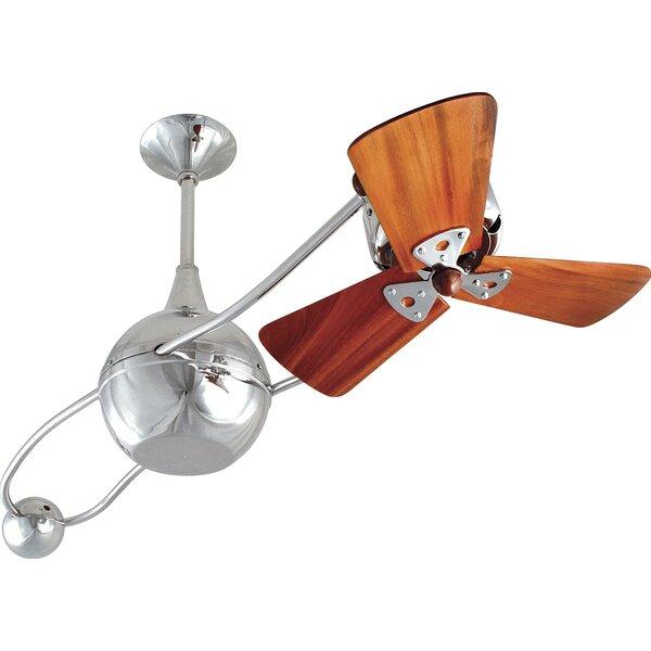 44 Brisa 2000 3 Wooden Blade Rotational Ceiling Fan by Matthews Fan Company