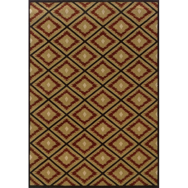 Johnson Village Gold/Red Area Rug by Loon Peak
