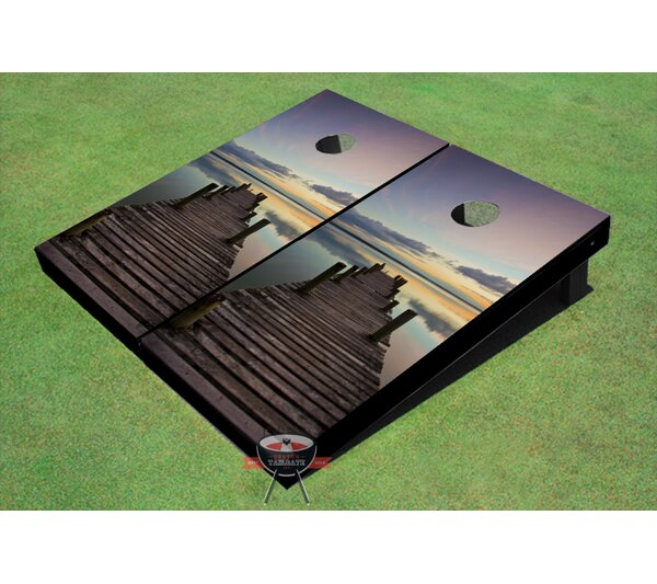 Dock Sunset Cornhole Board (Set of 2) by All American Tailgate