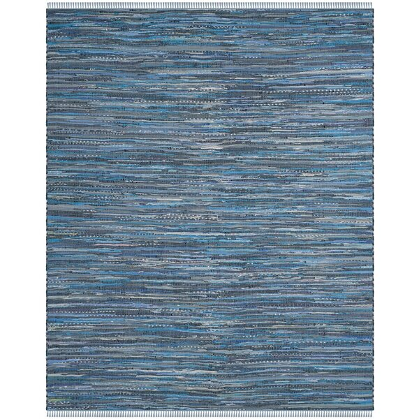 Naarden Hand-Woven Blue Area Rug by Bungalow Rose