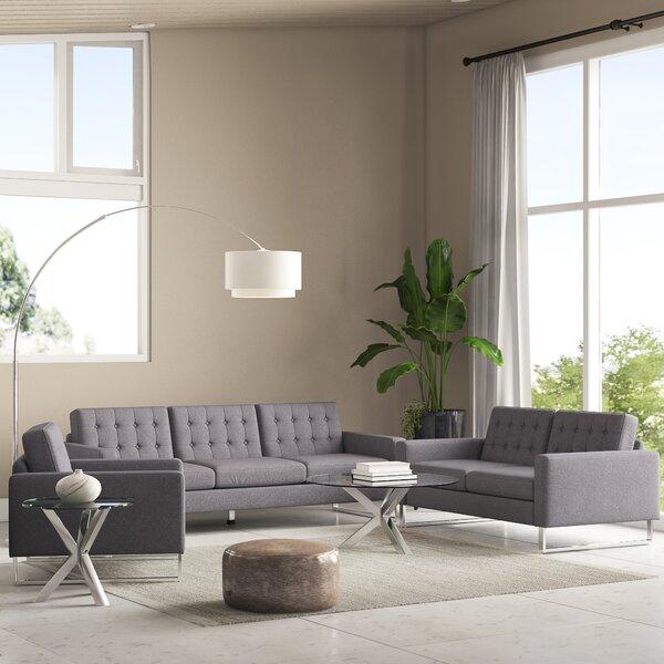 Sharlene 3 Piece Living Room Set by Orren Ellis