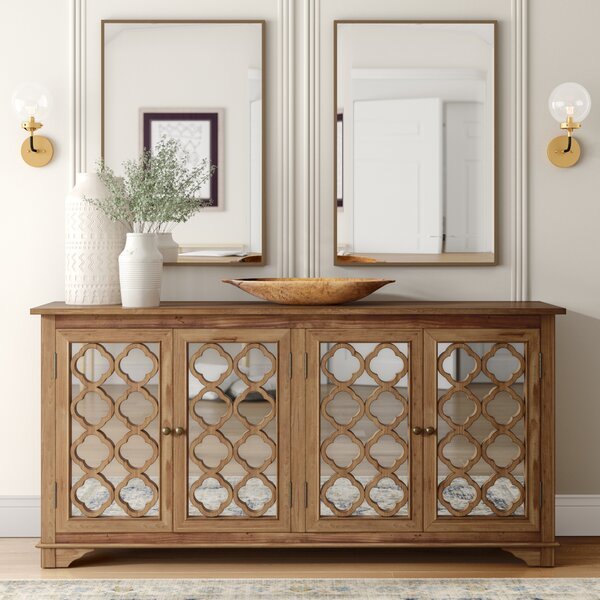 New Collection Swifton Mirror Accent Cabinet by Mistana by Mistana
