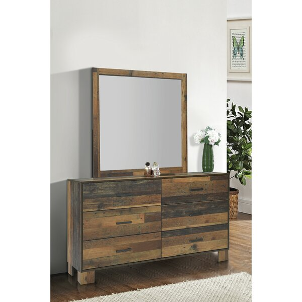 Keeso 6 Drawer Double Dresser with Mirror by Foundry Select Foundry Select