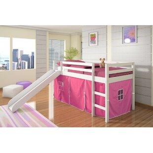 Inexpensive Ogden Tent Twin Low Loft Bed with Slide ByHarriet Bee