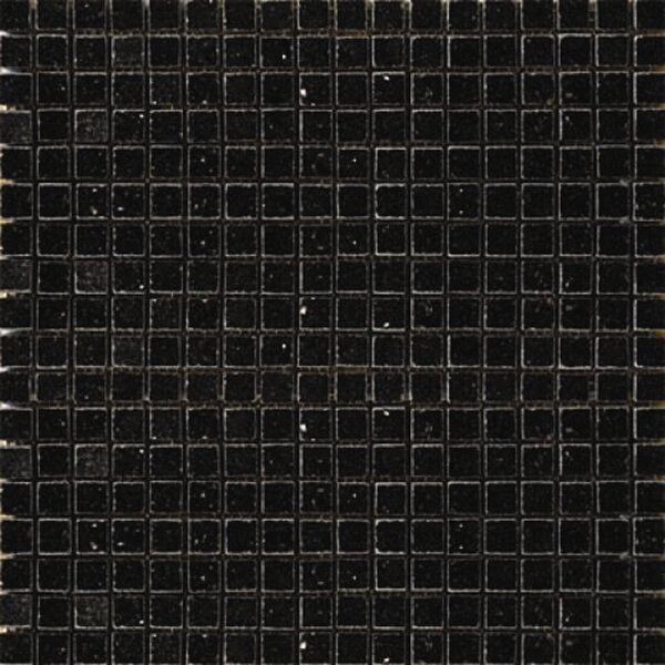 0.625'' x 0.625'' Granite Mosaic Tile in Black Galaxy by Epoch Architectural Surfaces