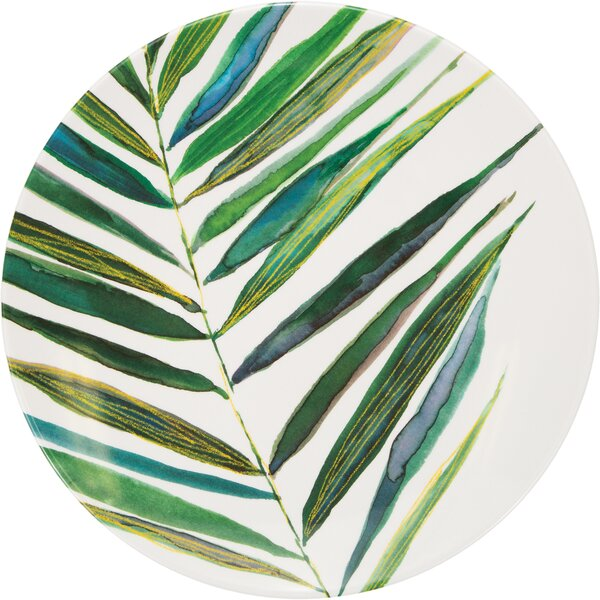 Leah Melamine 10.75 Dinner Plate by Beachcrest Home