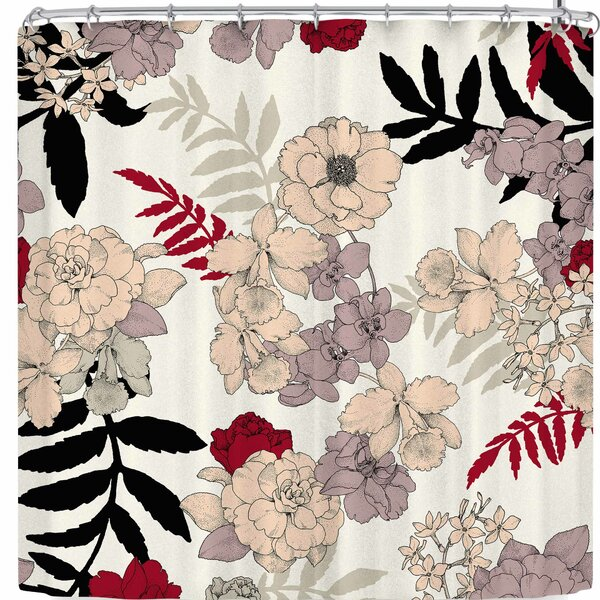 Victoria Krupp Sweet Floral Neutral Shower Curtain by East Urban Home